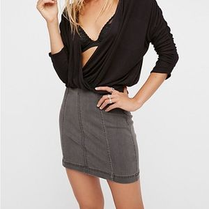 Modern Femme Denim Mini Skirt Kipps 6